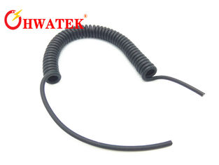 China Shielded Retractable Spiral Power Cable With Outer PUR Sheath For Vehicle supplier