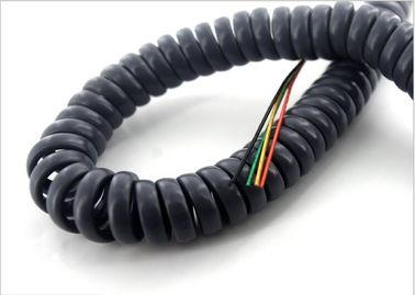 Coiled Electrical Extension Cord , Spiral Electrical Wire For ...