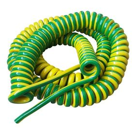 Unshielded Spring Coiled Electrical Cable , 2 Core / 4 Core Curly Power Cord
