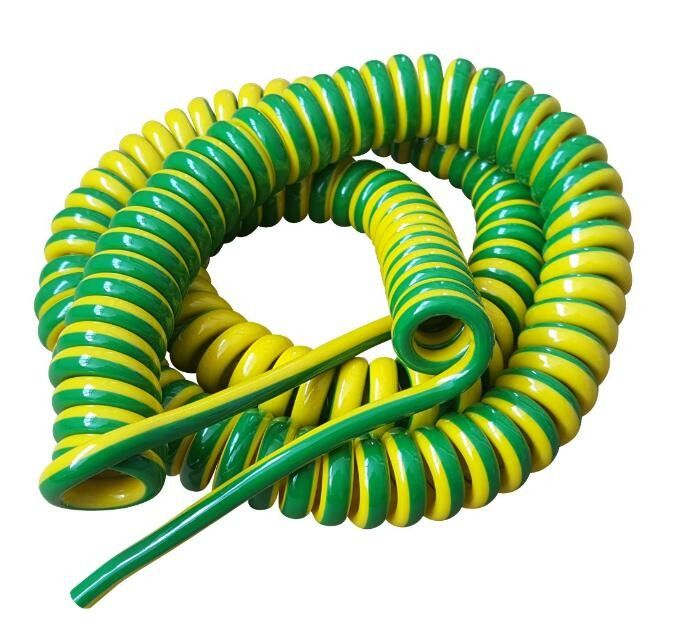 Unshielded Spring Coiled Electrical Cable 2 Core 4