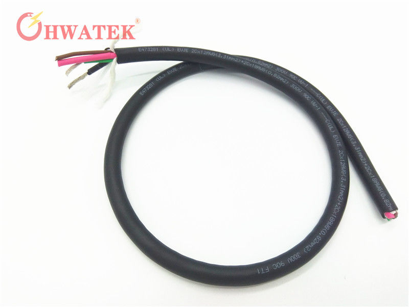 XLPE Insulated Flexible Braided Copper Wire , Multicore Power Cable ...